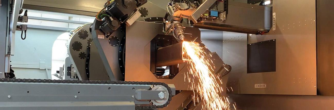 Laser processing cutting steel 1