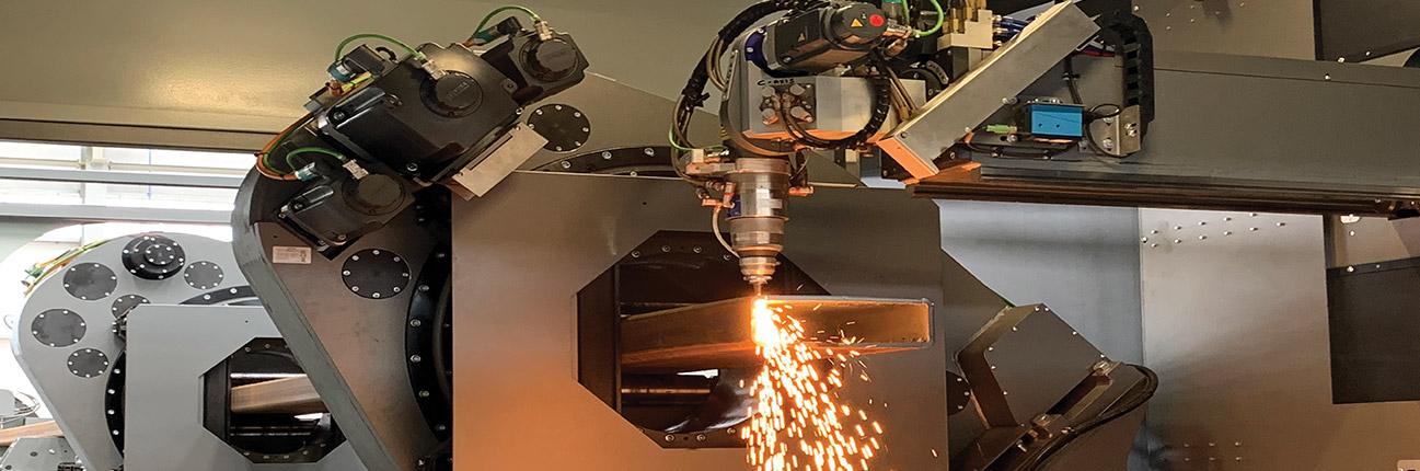 Laser processing cutting steel 2